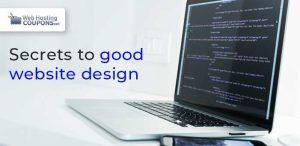 secrets to good website design code